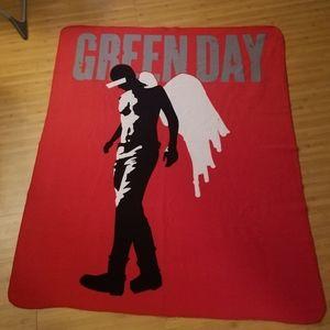 Green Day Fleece Blanket, Red, American Idiot 2004